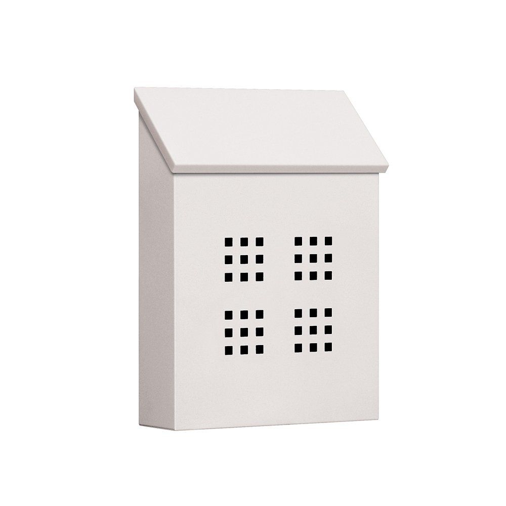 Salsbury Industries 4625Wht Traditional Mailbox Decorative for Lacordaire Wall Mounted Mailbox (Image 24 of 30)