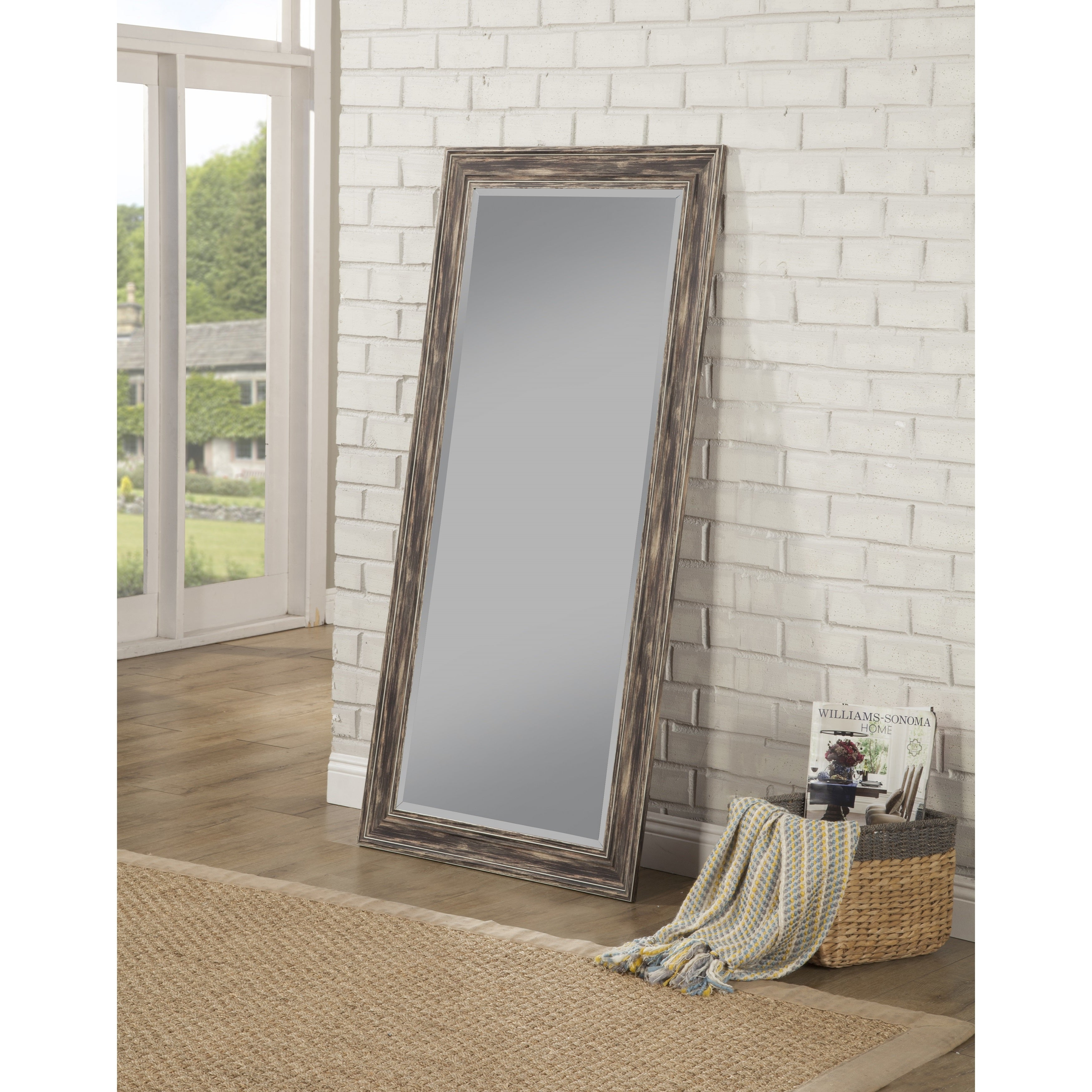 Sandberg Furniture Antique Black Farmhouse Full Length Leaner Mirror – Antique Black – A/n In Handcrafted Farmhouse Full Length Mirrors (View 26 of 30)