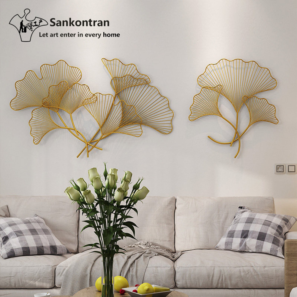 Sankontran Handmade Gold Metal Wall Art Gingko Leaf For Home Decoration -  Buy Chinese Gold Leaf,metal Wall Decor,leaf Wall Sculpture Product On intended for Leaves Metal Sculpture Wall Decor (Image 27 of 30)