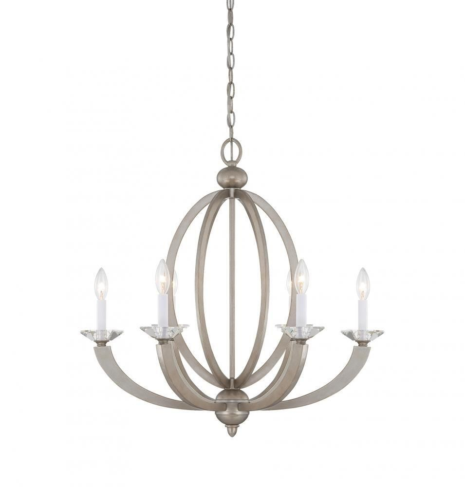 Savoy House 1 1551 6 307 – Forum 6 Light Chandelier, Silver Intended For Bennington 6 Light Candle Style Chandeliers (View 17 of 30)
