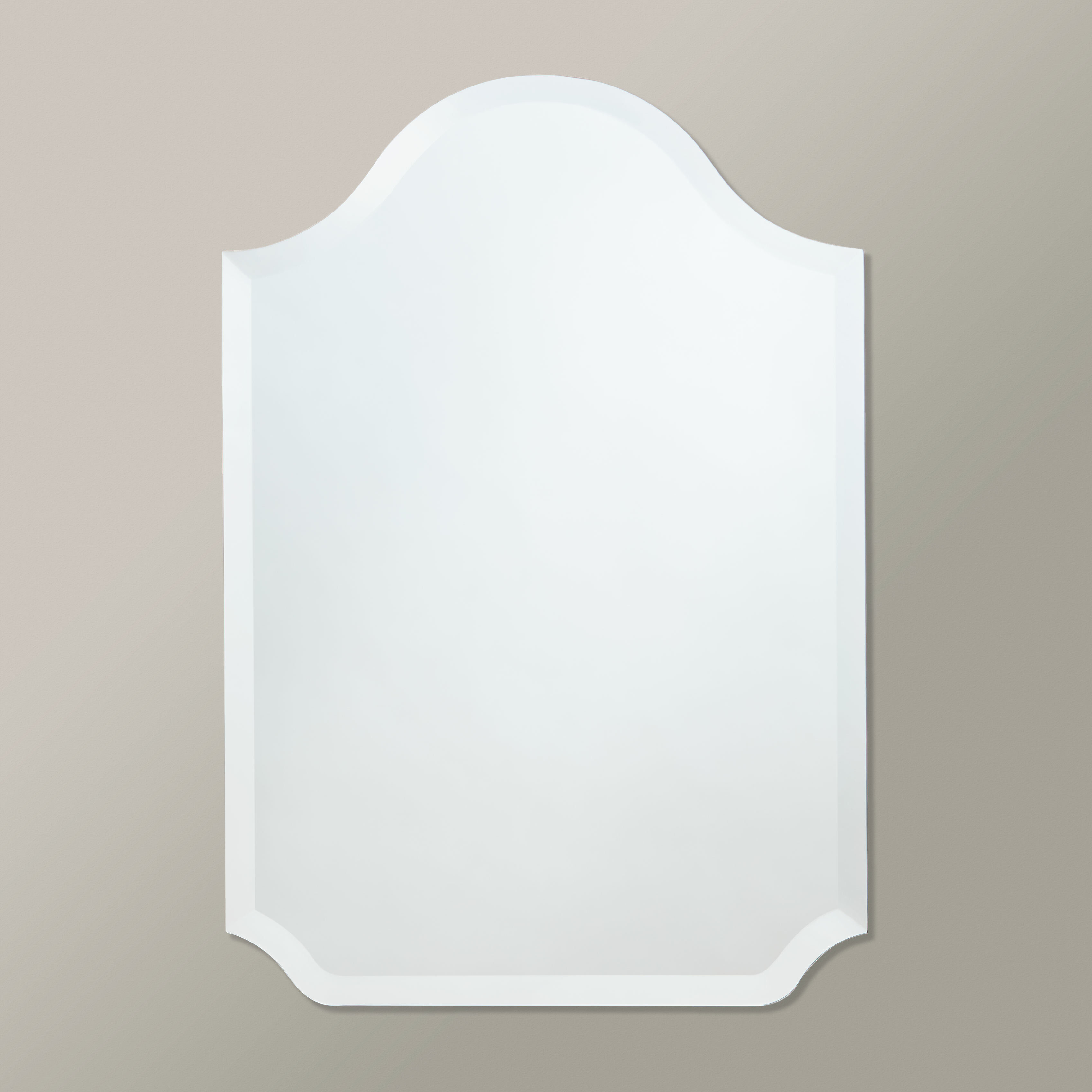 Scalloped Glass Mirror | Wayfair for Dariel Tall Arched Scalloped Wall Mirrors (Image 21 of 30)