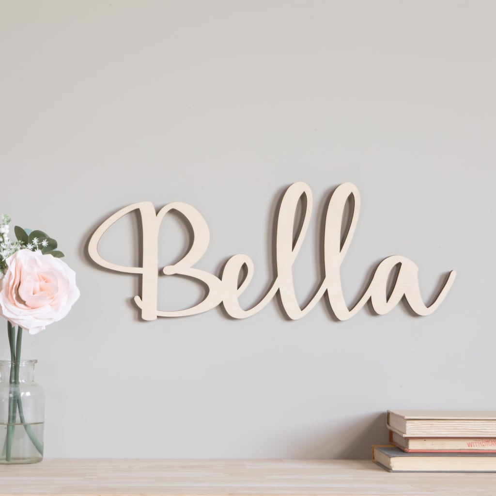 Script Wood Letters – Cursive Wood Letters | Craftcuts For Choose Happiness 3D Cursive Metal Wall Decor (View 28 of 30)