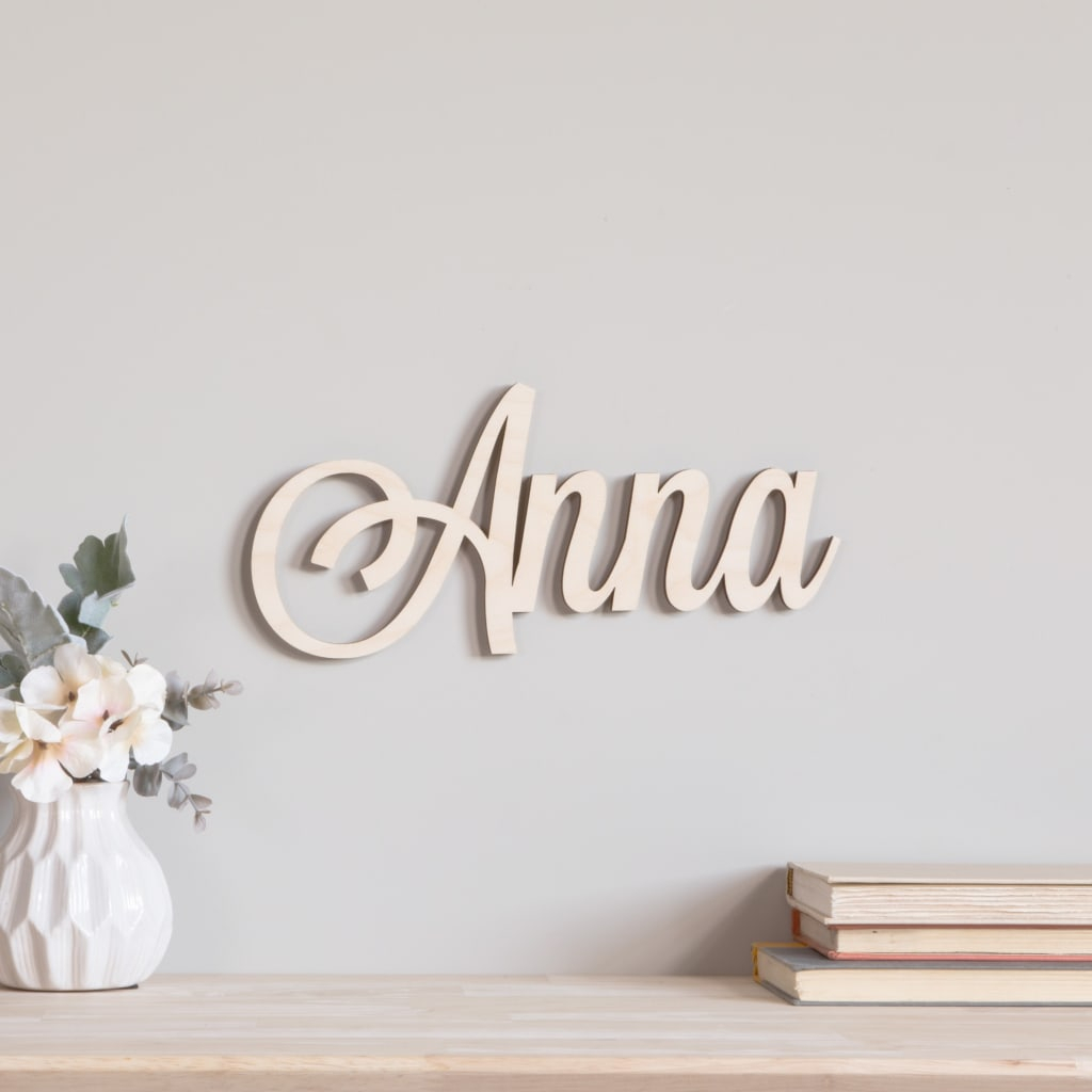 Script Wood Letters – Cursive Wood Letters | Craftcuts With Regard To Choose Happiness 3D Cursive Metal Wall Decor (View 29 of 30)