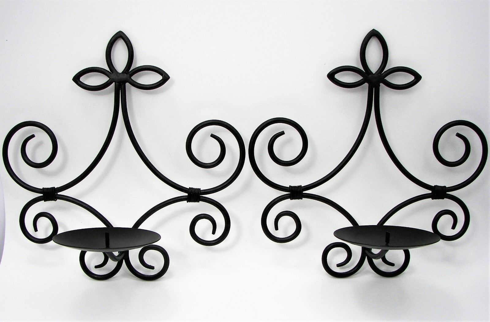 Scroll Metal Candle Holder Sconces Set Of 2 Oil Rubbed Bronze Finish Wall Decor In Oil Rubbed Metal Wall Decor (View 10 of 30)