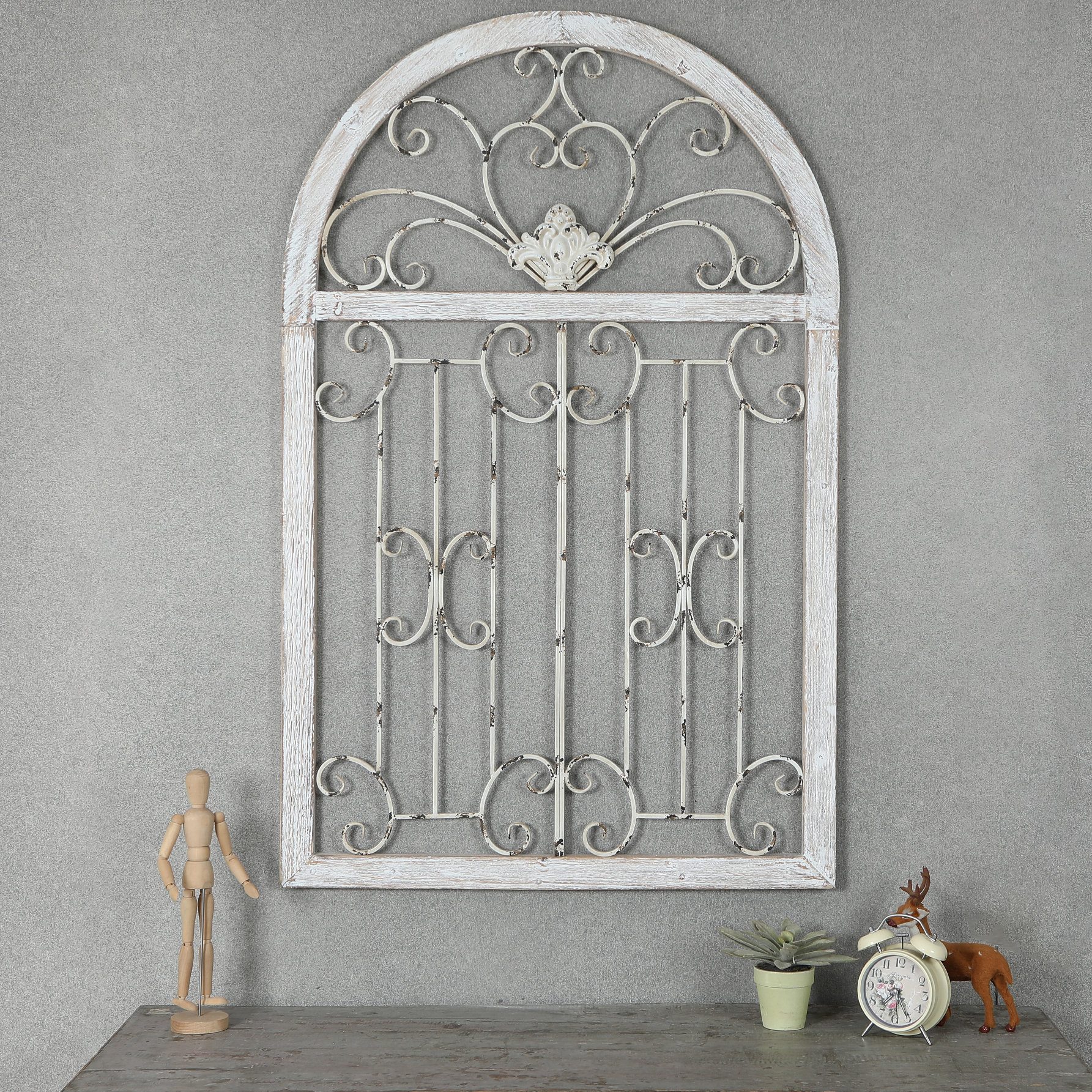 Scroll Wall Decor | Wayfair throughout Ornamental Wood and Metal Scroll Wall Decor (Image 22 of 30)
