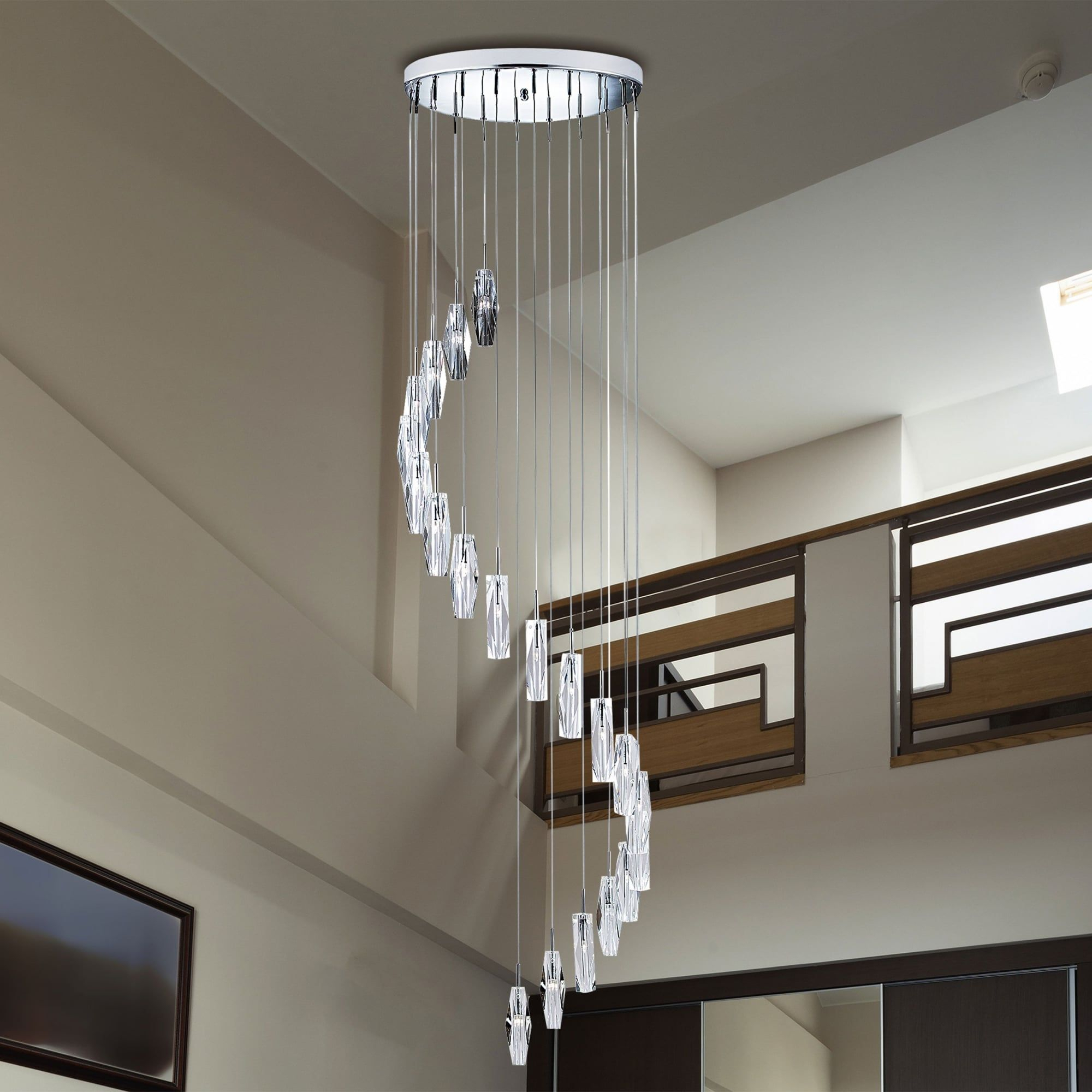 Sculptured Ice 20 Light Chrome And Crystal Glass Dangle With Regard To Buster 5 Light Drum Chandeliers (View 10 of 30)