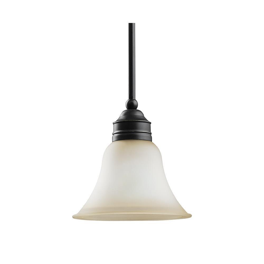 Sea Gull Lighting 61850 782 1 Light Mini Pendant Heirloom Bronze Finish Within Kraker 1 Light Single Cylinder Pendants (View 20 of 30)