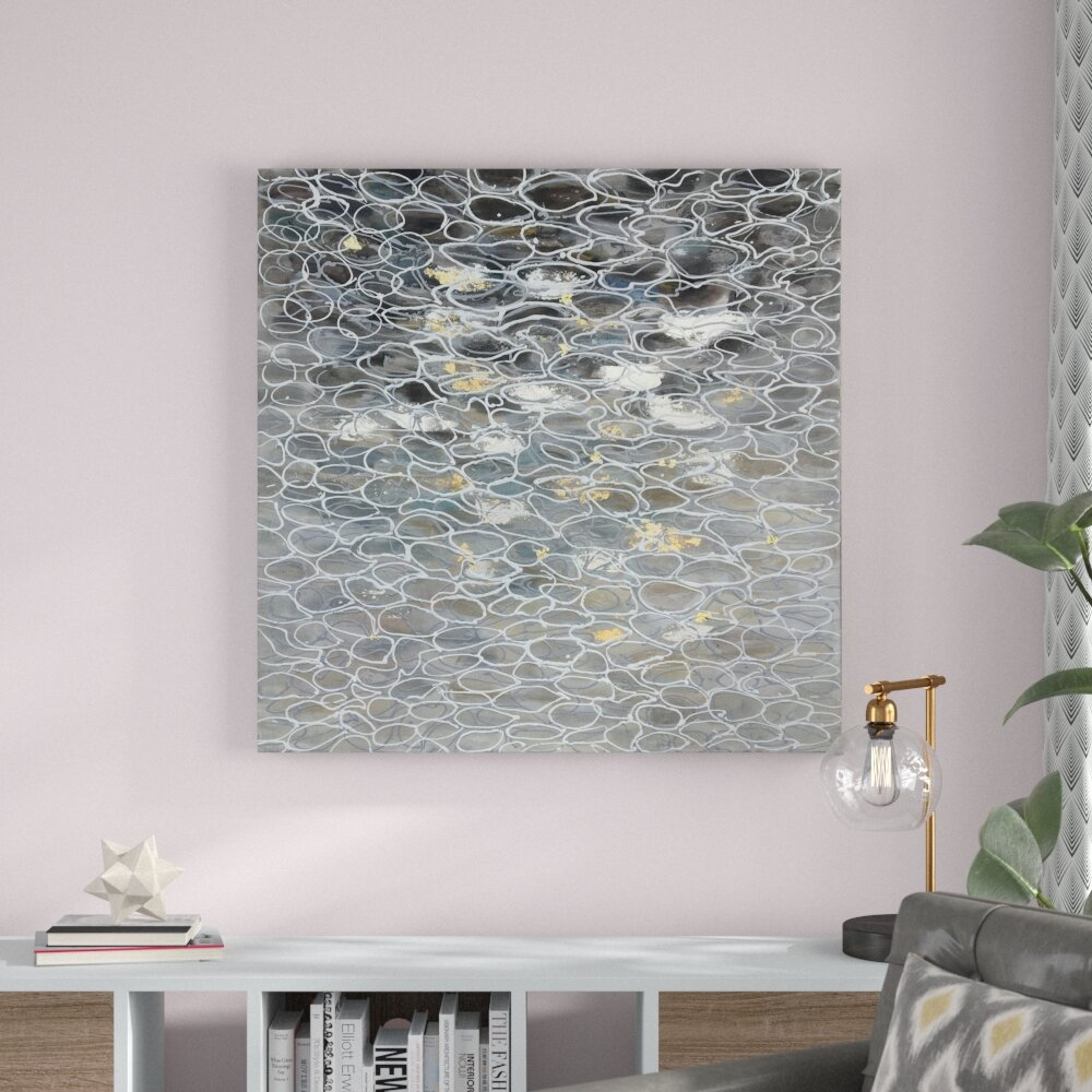 'sea Of Bubbles Ii' Oil Painting Print On Wrapped Canvas intended for 3 Piece Wall Decor Sets by Wrought Studio (Image 2 of 30)