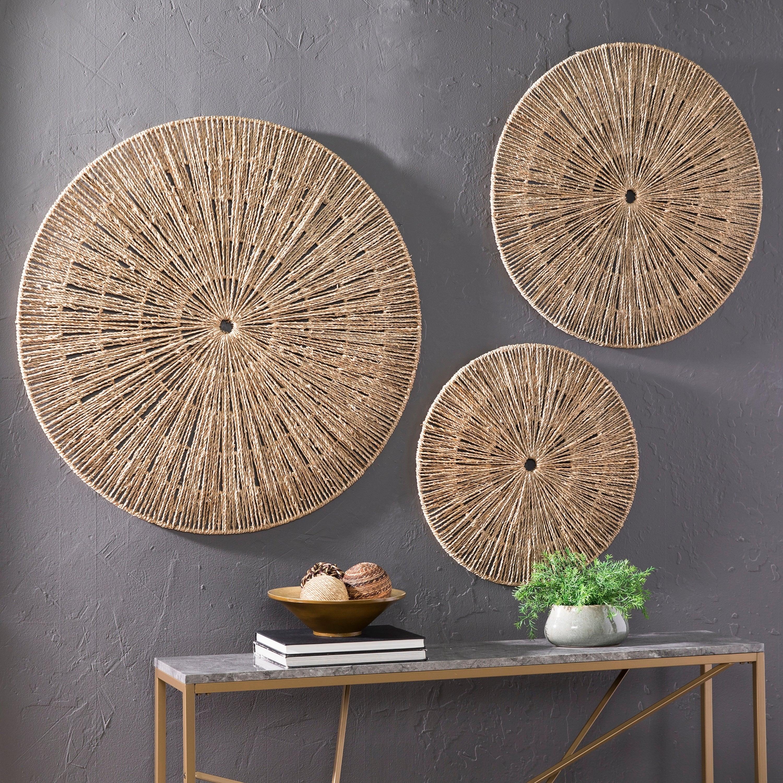 Seagrass Wall Decor | Rikenik with regard to 4 Piece Handwoven Wheel Wall Decor Sets (Image 29 of 30)