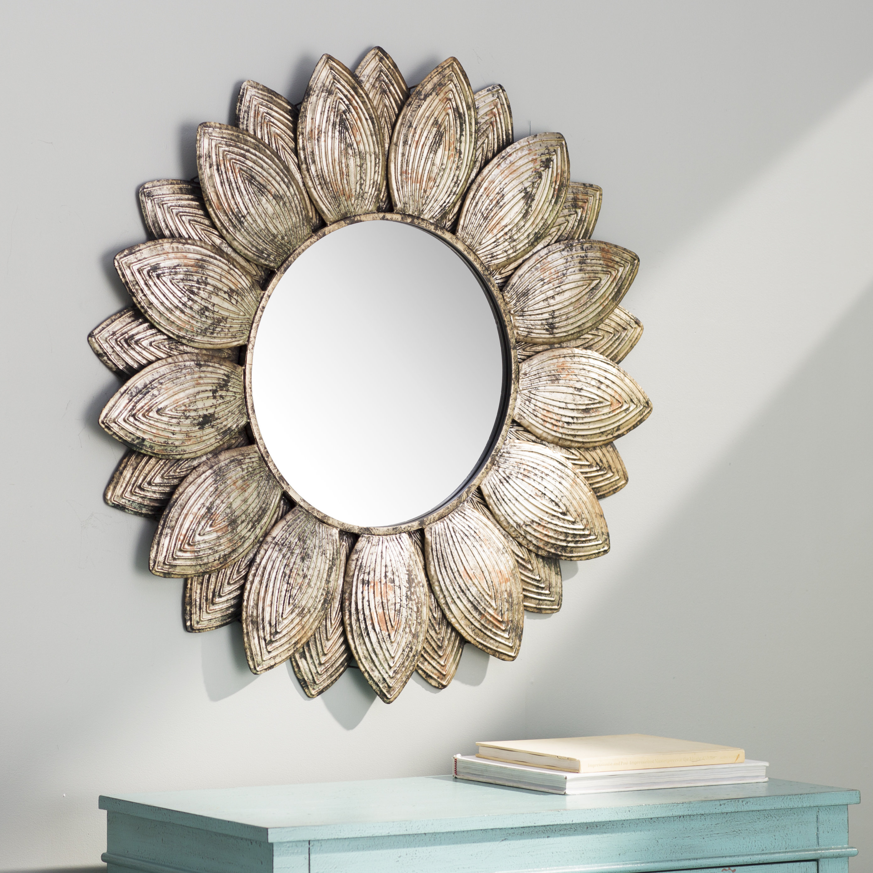 Seema Eclectic Beveled Wall Mirror In Round Eclectic Accent Mirrors (View 11 of 30)