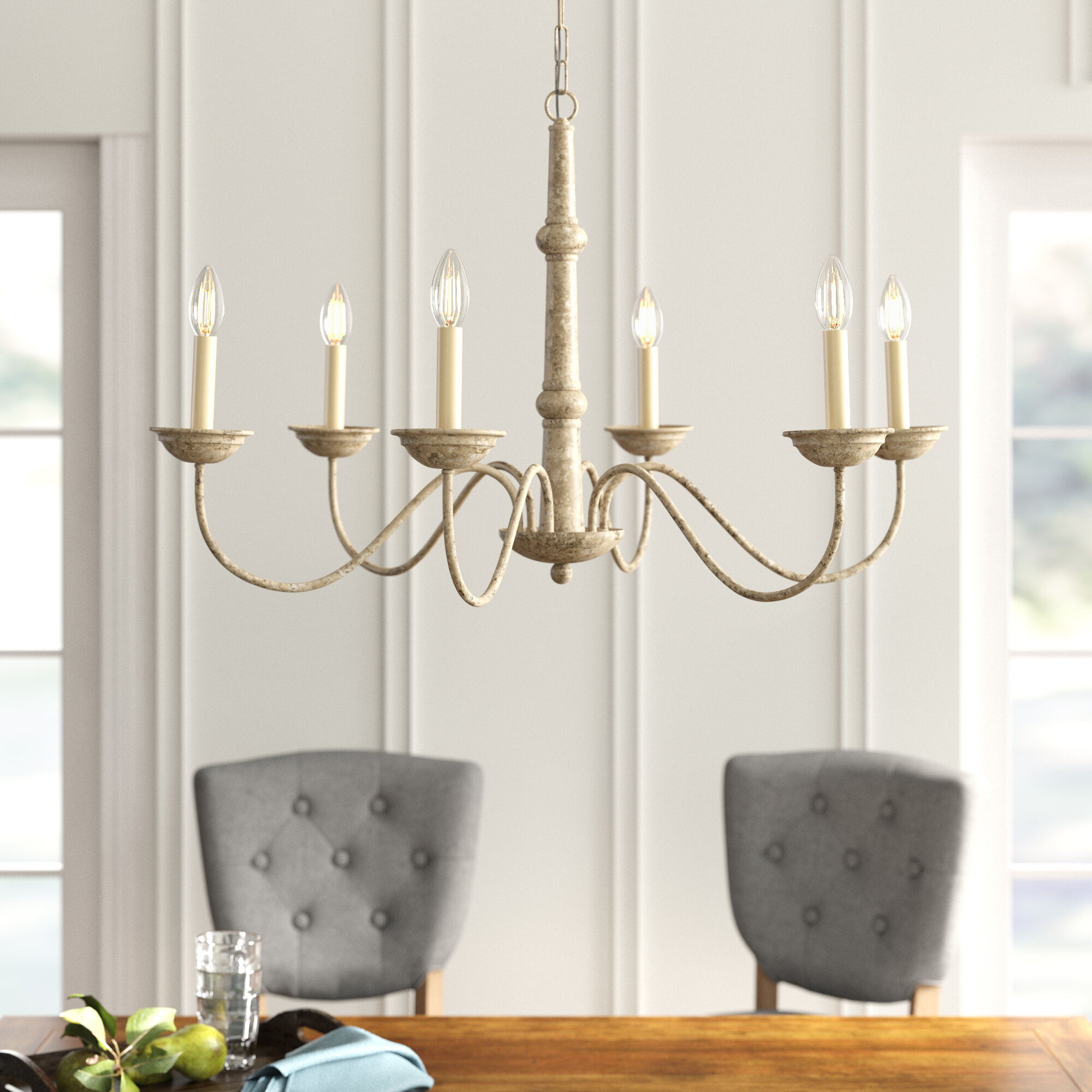 Seneca 6-Light Candle Style Chandelier for Watford 6-Light Candle Style Chandeliers (Image 20 of 30)
