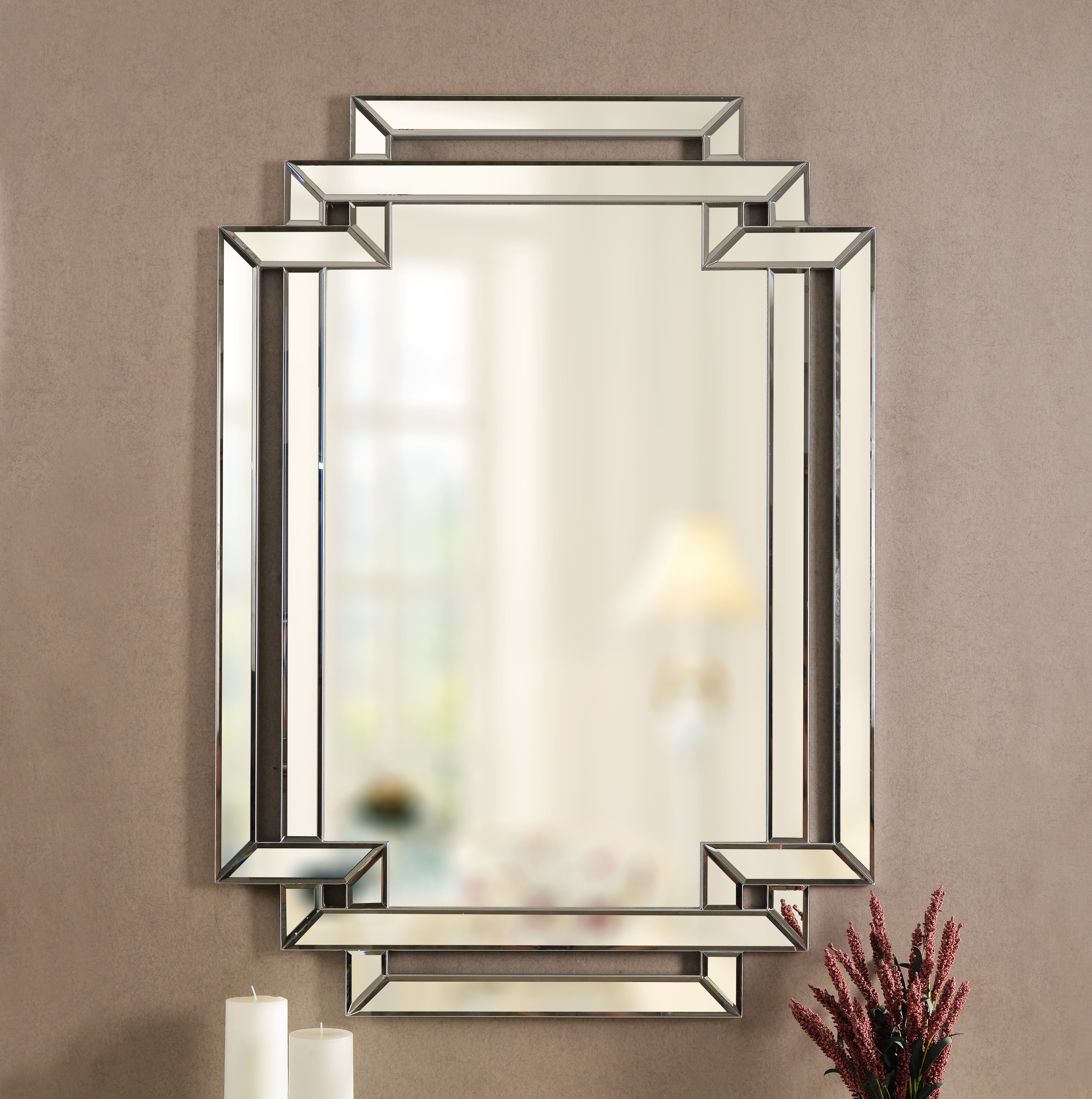 Seren Traditional Beveled Accent Mirror For Trigg Accent Mirrors (View 3 of 30)