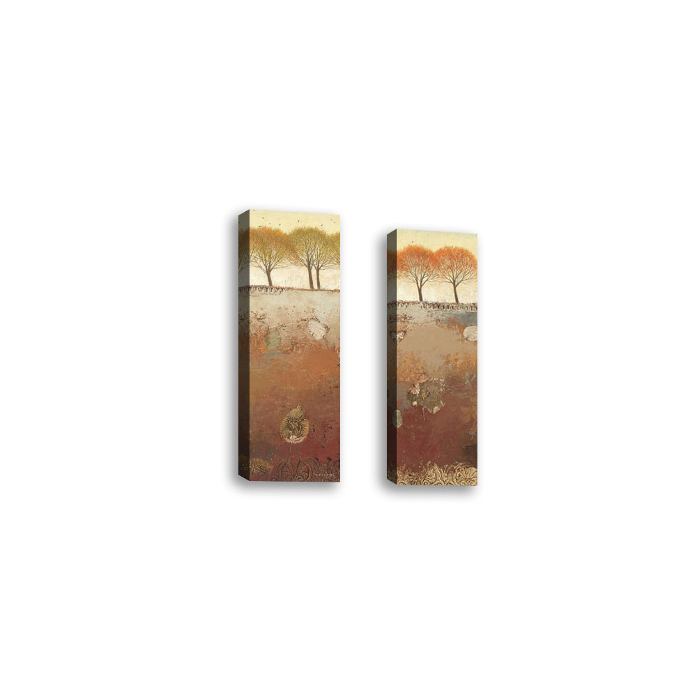 Set Of 2 – Field And Forest Panel Iii – Contemporary Fine Art Giclee On Canvas Gallery Wrap – Wall Décor – Art Painting – 8 X 24 Inch – Ready To Hang Within Contemporary Forest Metal Wall Decor (View 25 of 30)