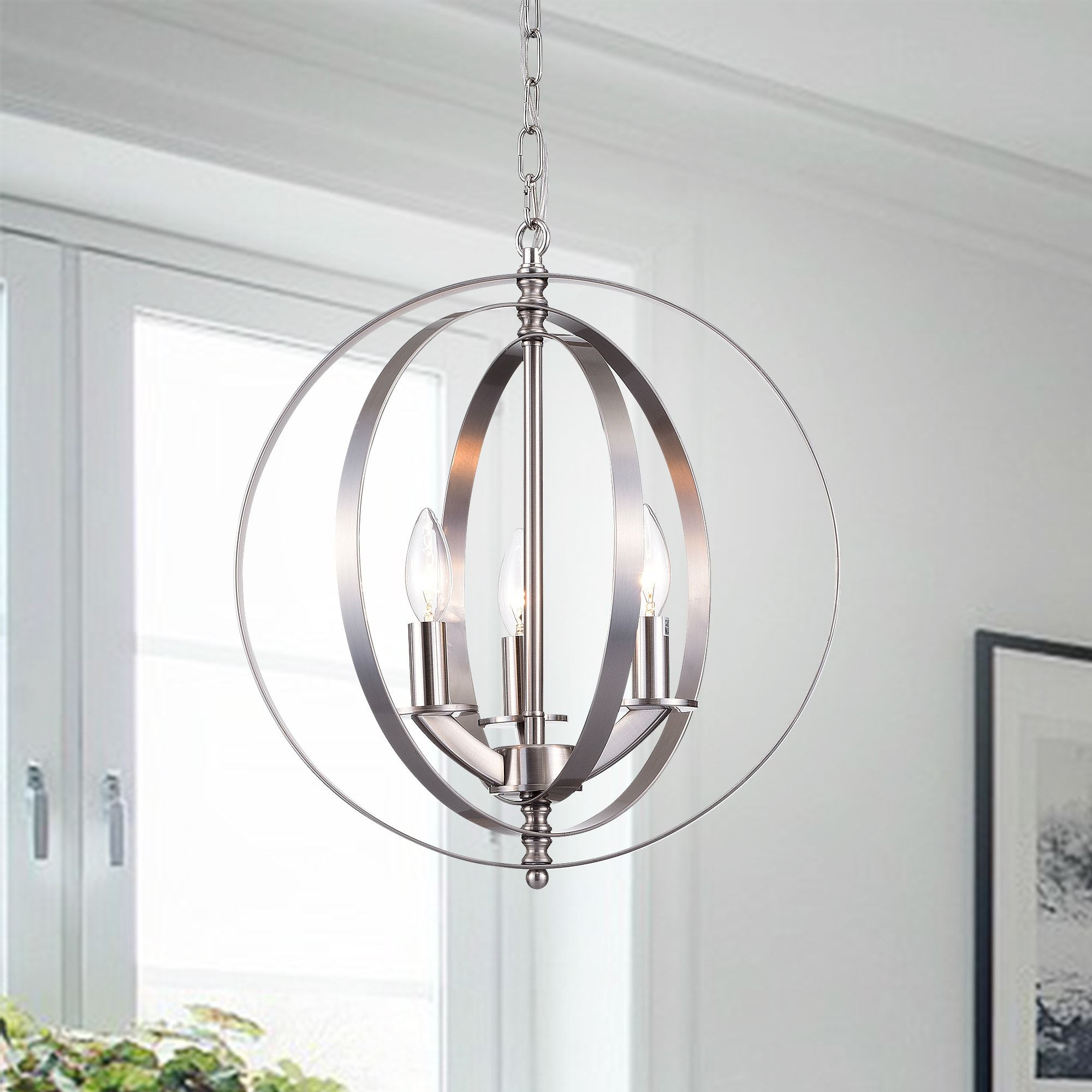 Setsus Chrome 3-Light Chandelier Globe - Free Shipping Today intended for Morganti 4-Light Chandeliers (Image 26 of 30)