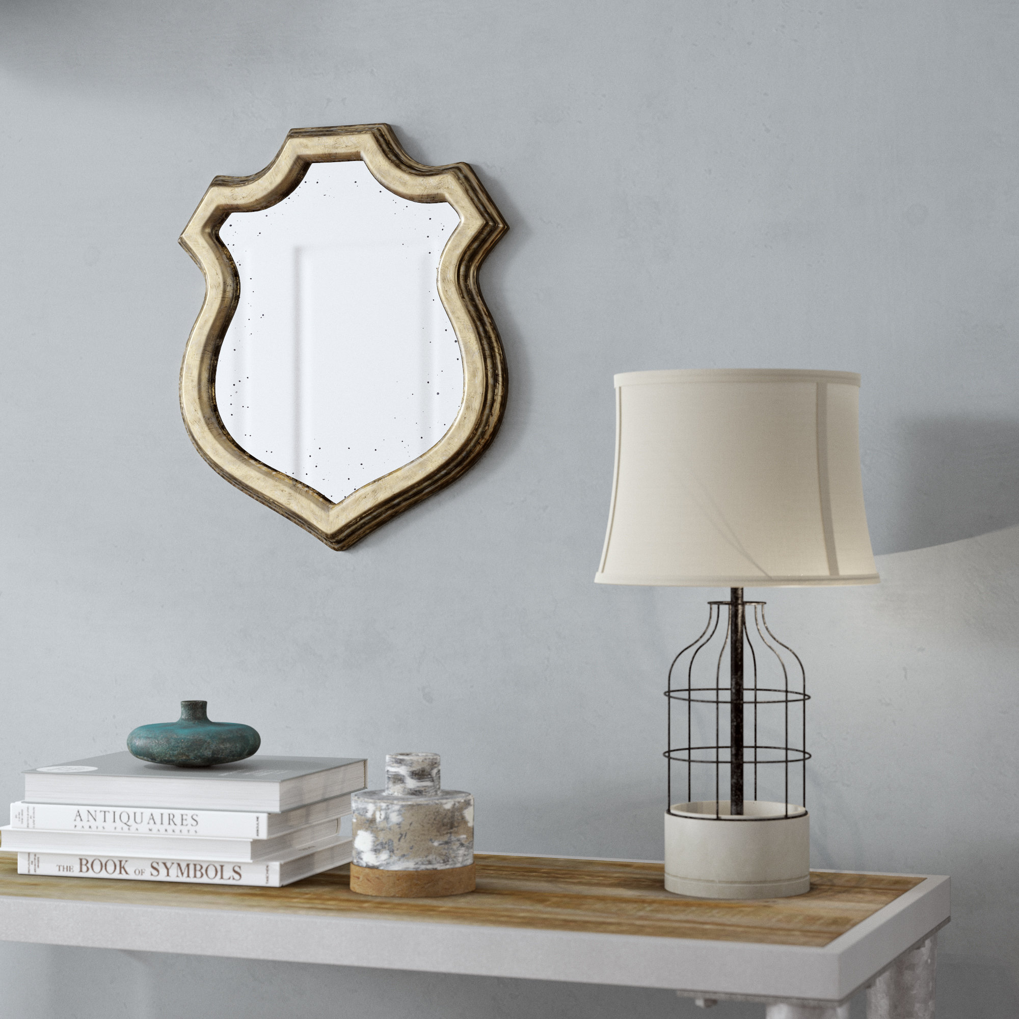 Shabby Chic Wall Mirror | Wayfair With Epinal Shabby Elegance Wall Mirrors (View 20 of 30)
