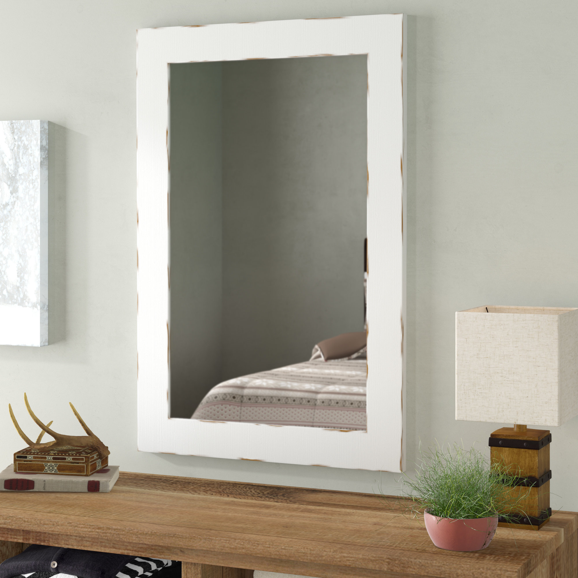 Shabby Rustic Mirror | Wayfair For Epinal Shabby Elegance Wall Mirrors (View 26 of 30)