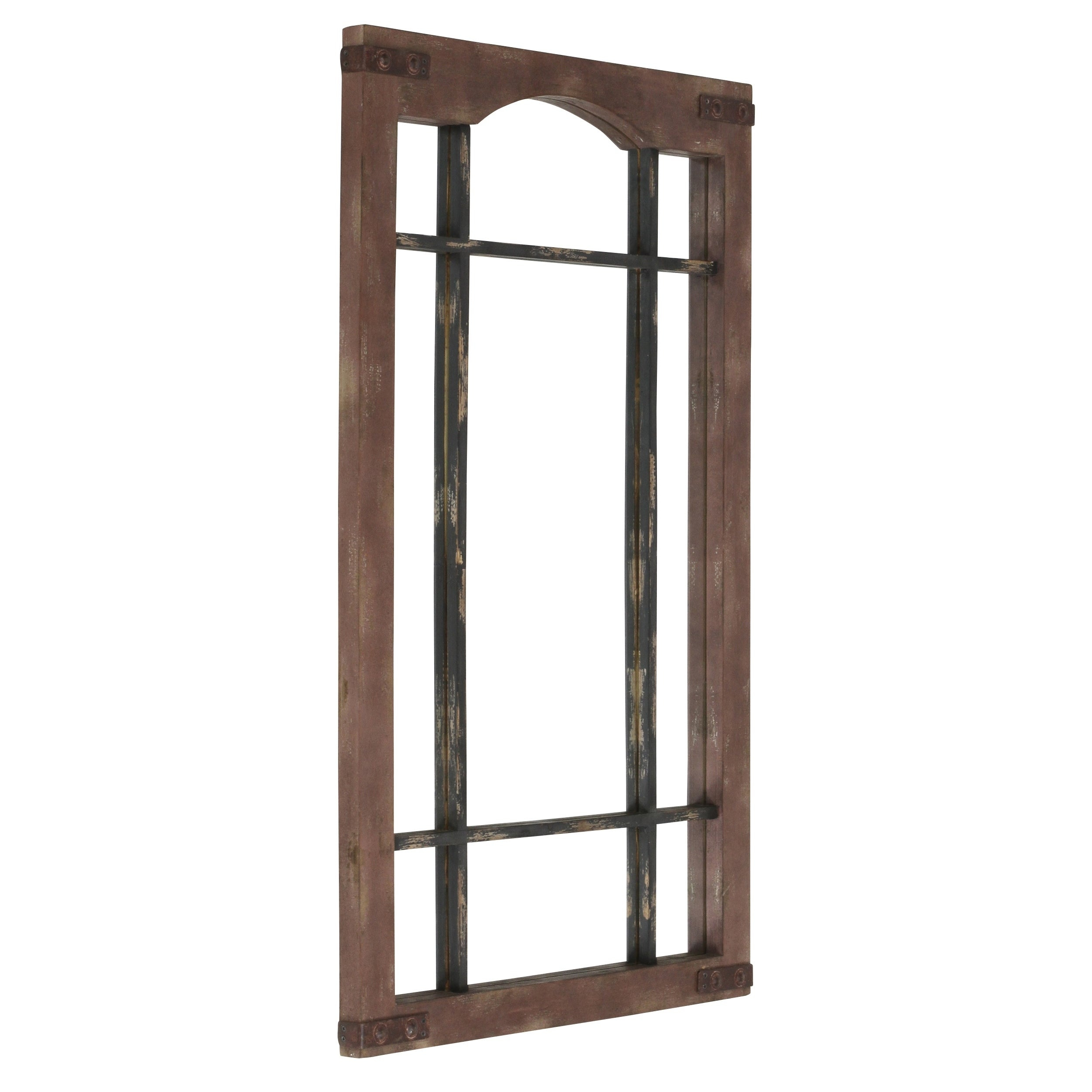 Sheridan Faux Window Wall Mirror – Brown With Regard To Faux Window Wood Wall Mirrors (View 10 of 30)