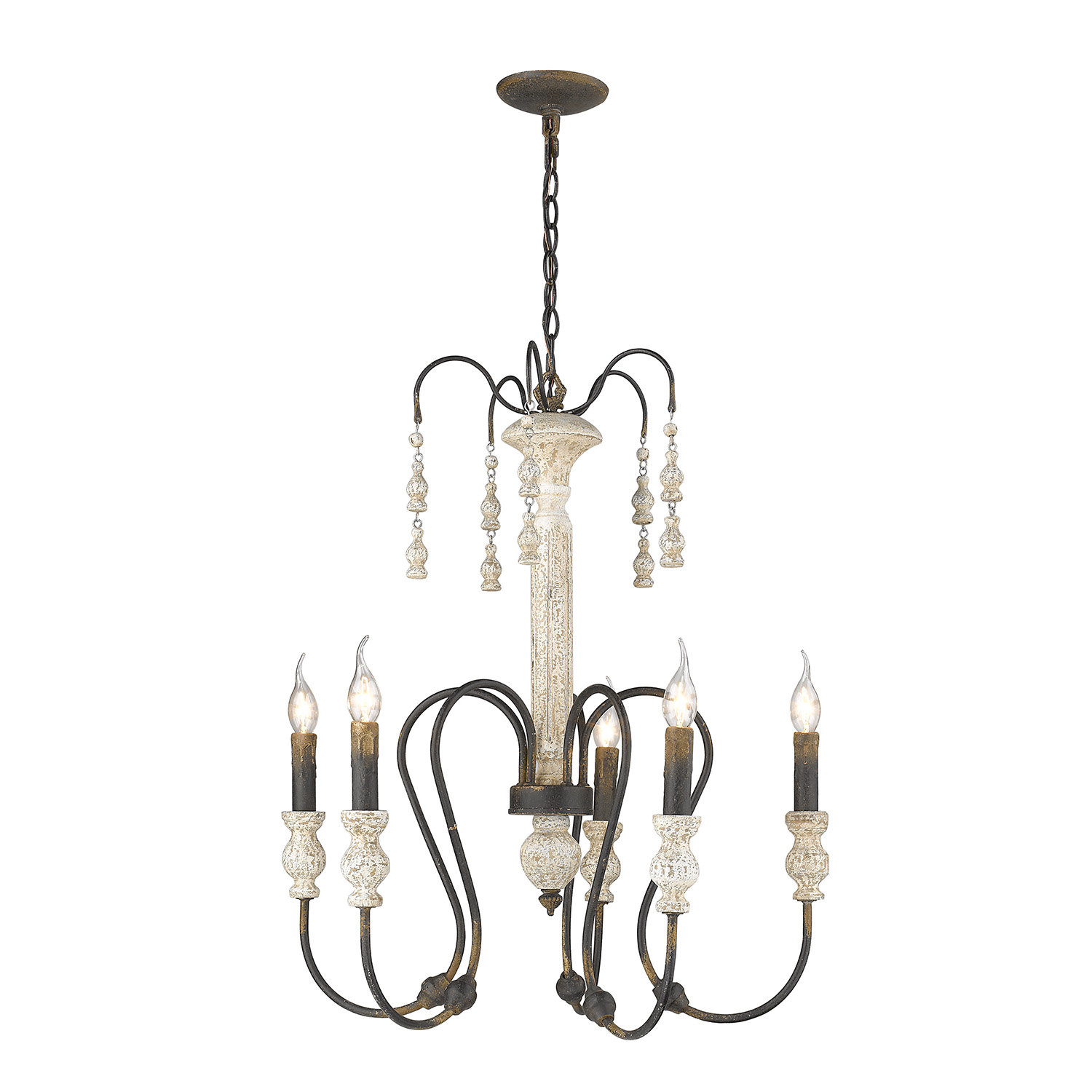 Sherrie 5-Light Candle Style Chandelier with Corneau 5-Light Chandeliers (Image 27 of 30)