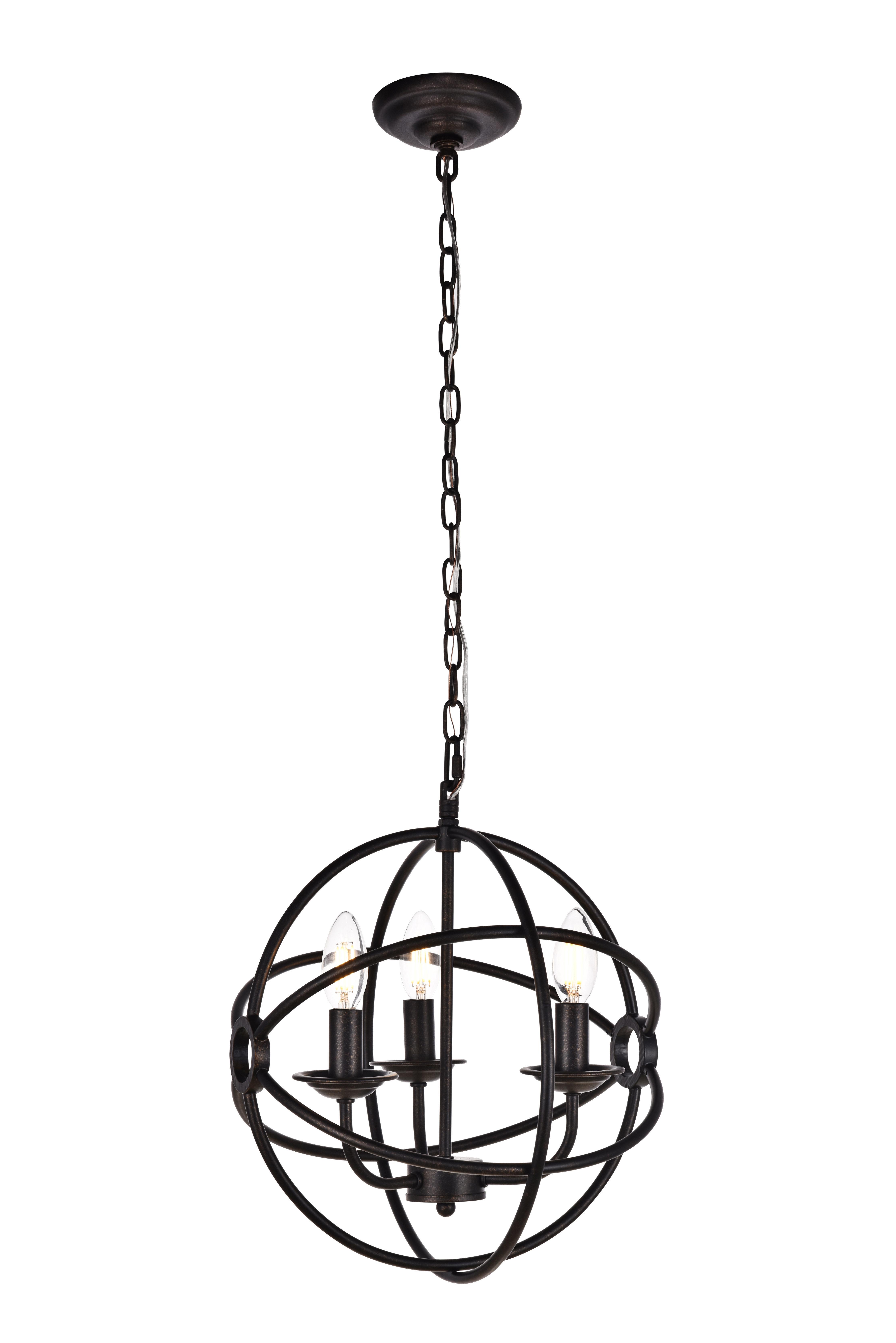 Shipststour 3 Light Globe Chandelier With Regard To Shipststour 3 Light Globe Chandeliers (View 29 of 30)
