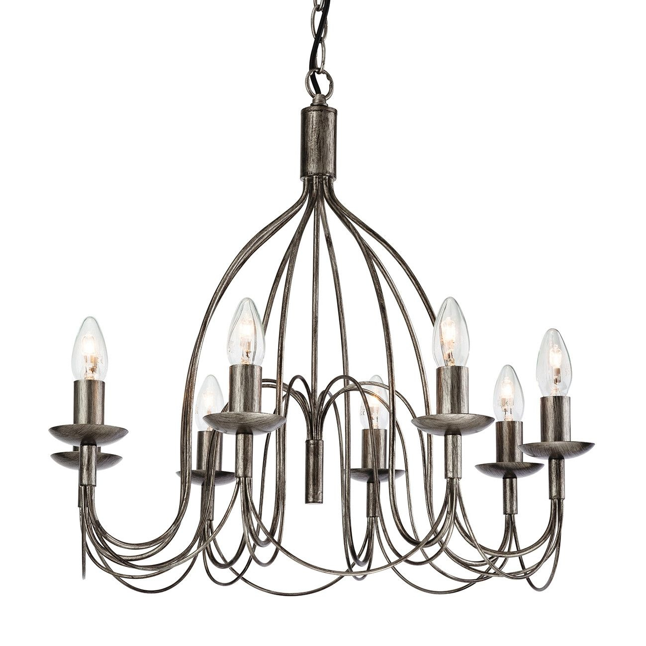 Shire 8-Light Candle-Style Chandelier | Lighting | Ceiling for Camilla 9-Light Candle Style Chandeliers (Image 24 of 30)