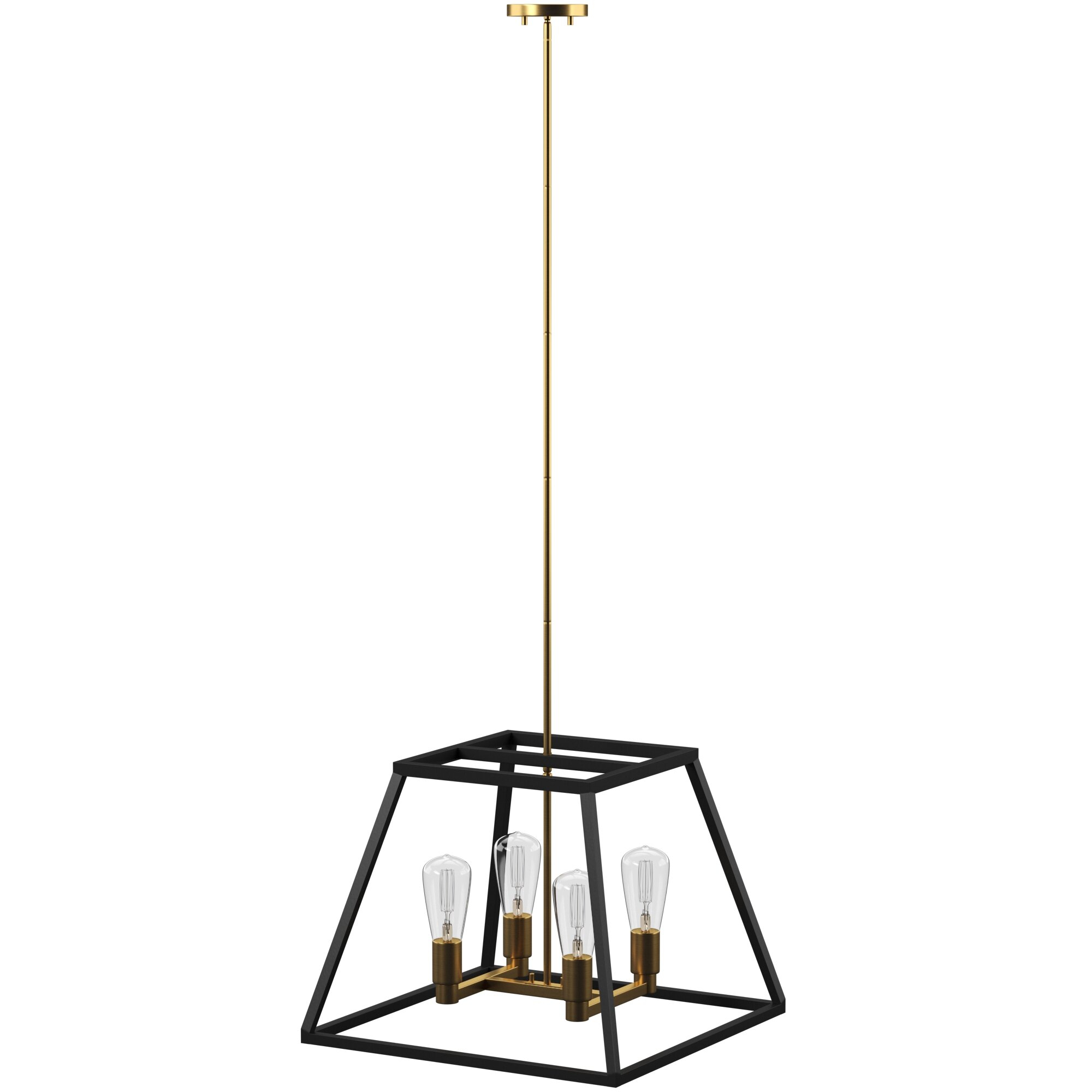 Shisler 4 Light Square/rectangle Chandelier With Regard To Janette 5 Light Wagon Wheel Chandeliers (View 15 of 30)