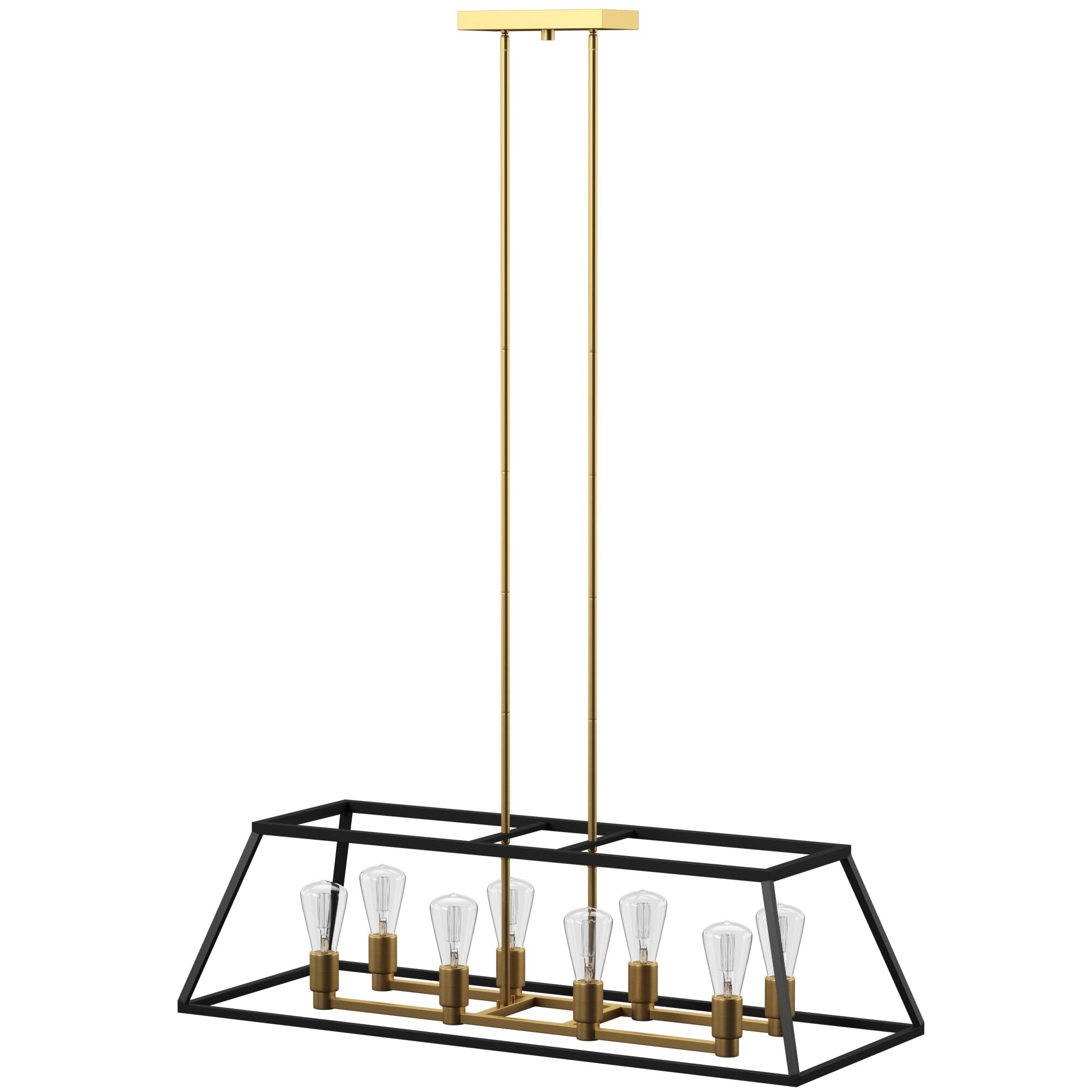 Shisler 8 Light Kitchen Island Linear Pendant With Sousa 4 Light Kitchen Island Linear Pendants (View 19 of 30)