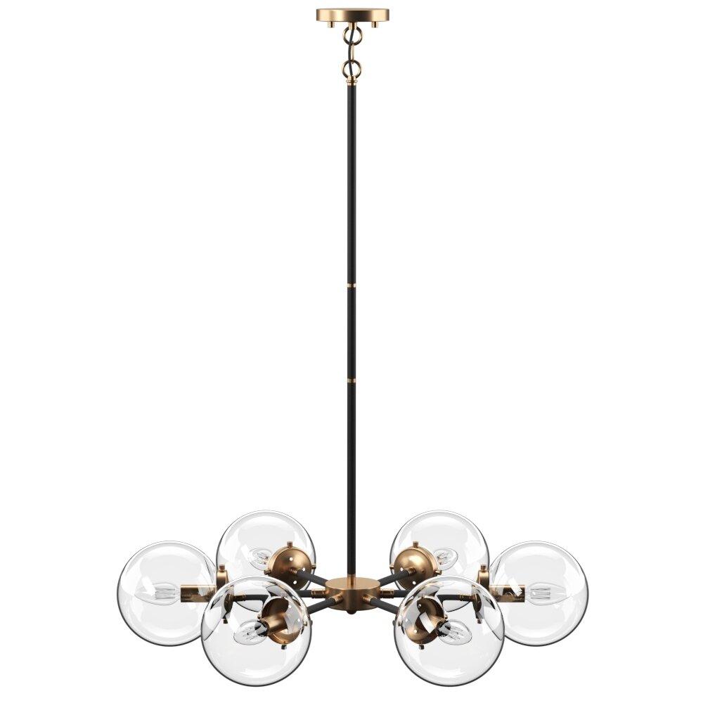 Shontelle 6-Light Sputnik Chandelier for Johanne 6-Light Sputnik Chandeliers (Image 27 of 30)