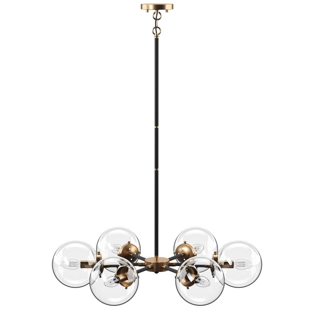 Shontelle 6 Light Sputnik Chandelier Intended For Bautista 6 Light Kitchen Island Bulb Pendants (View 28 of 30)