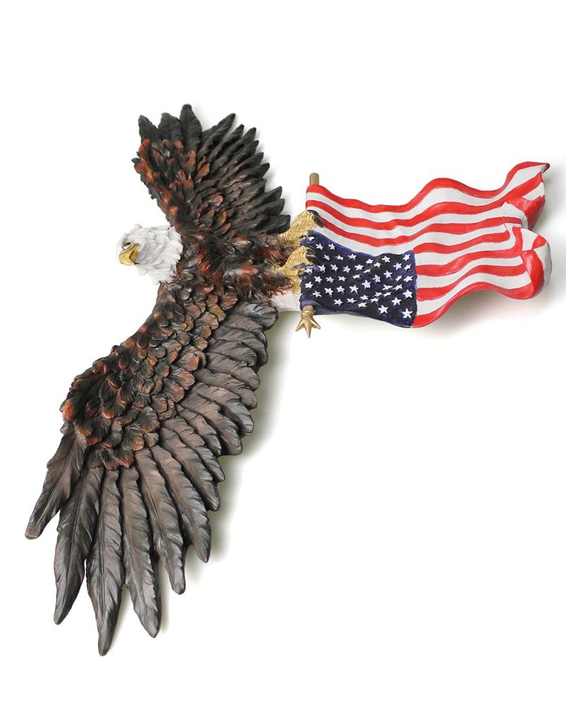 Shop For 3D American Eagle Wall Sculptures, Hanging Mount for American Pride 3D Wall Decor (Image 22 of 30)