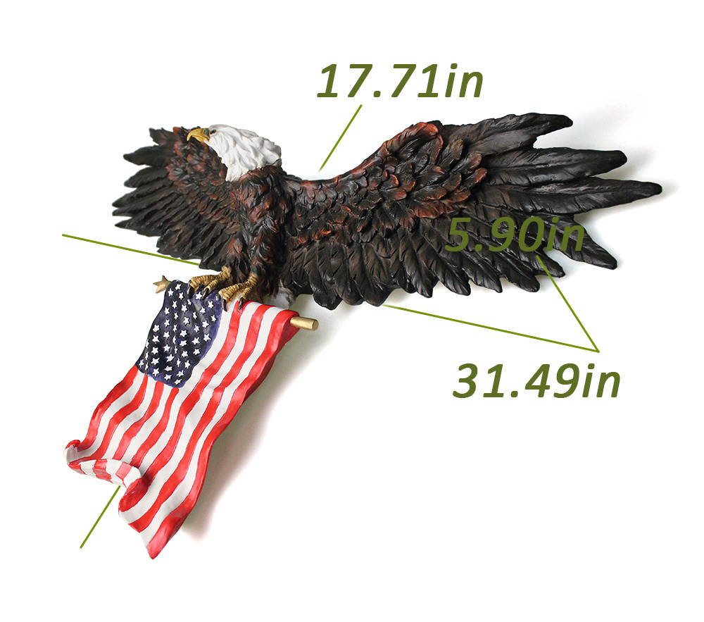 Shop For 3D American Eagle Wall Sculptures, Hanging Mount with American Pride 3D Wall Decor (Image 24 of 30)