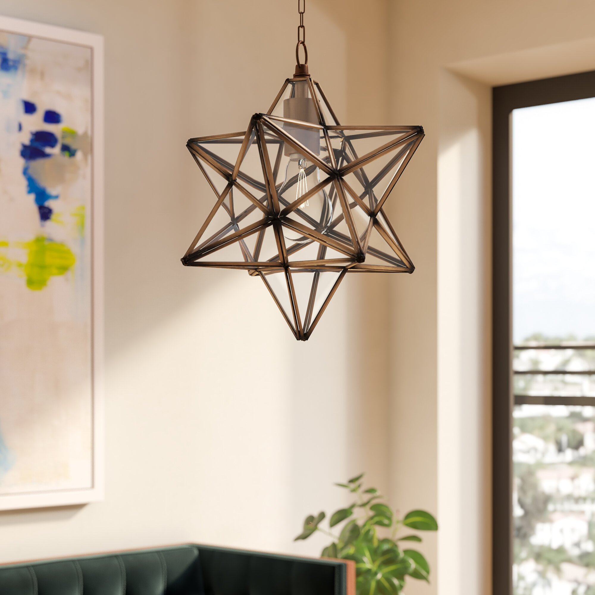 Shuler 1-Light Single Star Pendant with 1-Light Single Star Pendants (Image 29 of 30)