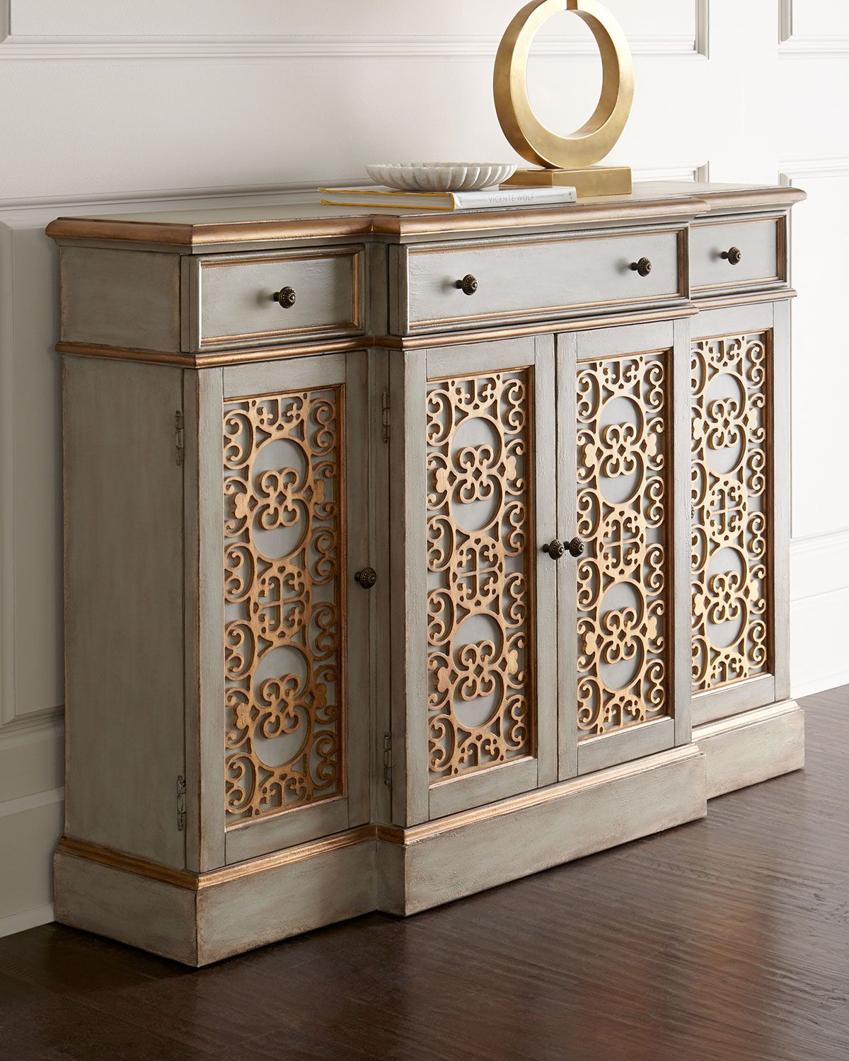 Sideboard Features Intricate Doors Adorned With Scrolled intended for Stillwater Sideboards (Image 23 of 30)