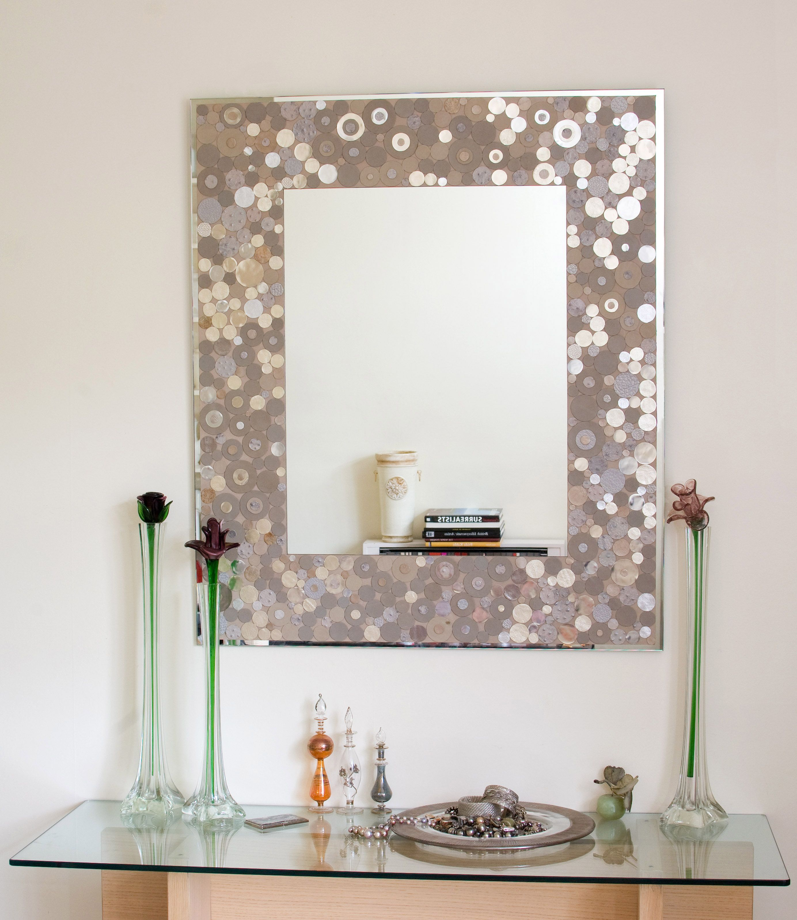 Silver Dots Mirror | • Space & Lounge • | Spiegel Rahmen For Caja Rectangle Glass Frame Wall Mirrors (View 8 of 30)