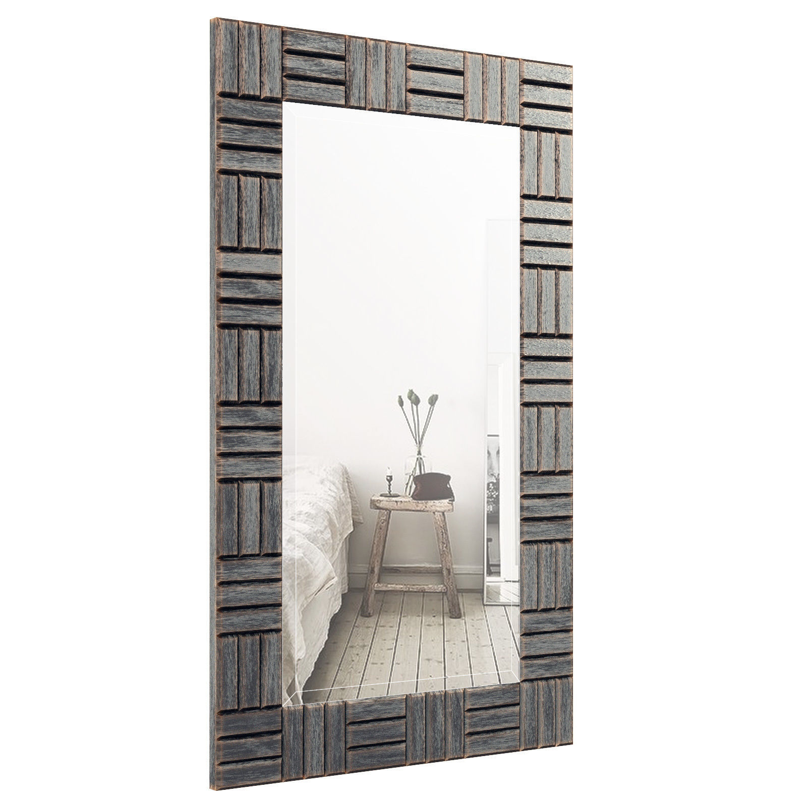 Silver Frame Accent Mirror Orel3063 | 3d Model Within Silver Frame Accent Mirrors (View 3 of 30)