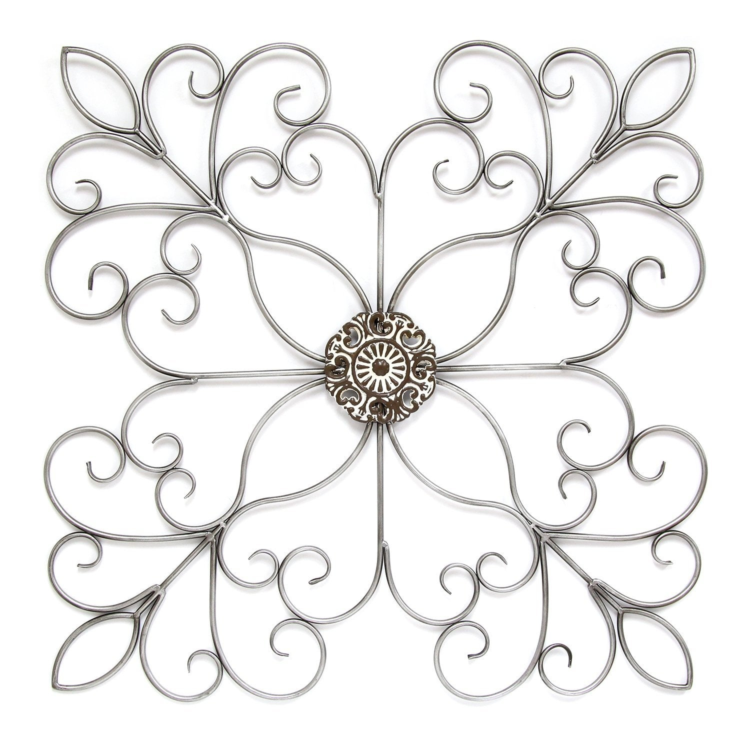 Silver Square Medallion Wall Decor Intended For European Medallion Wall Decor (View 20 of 30)