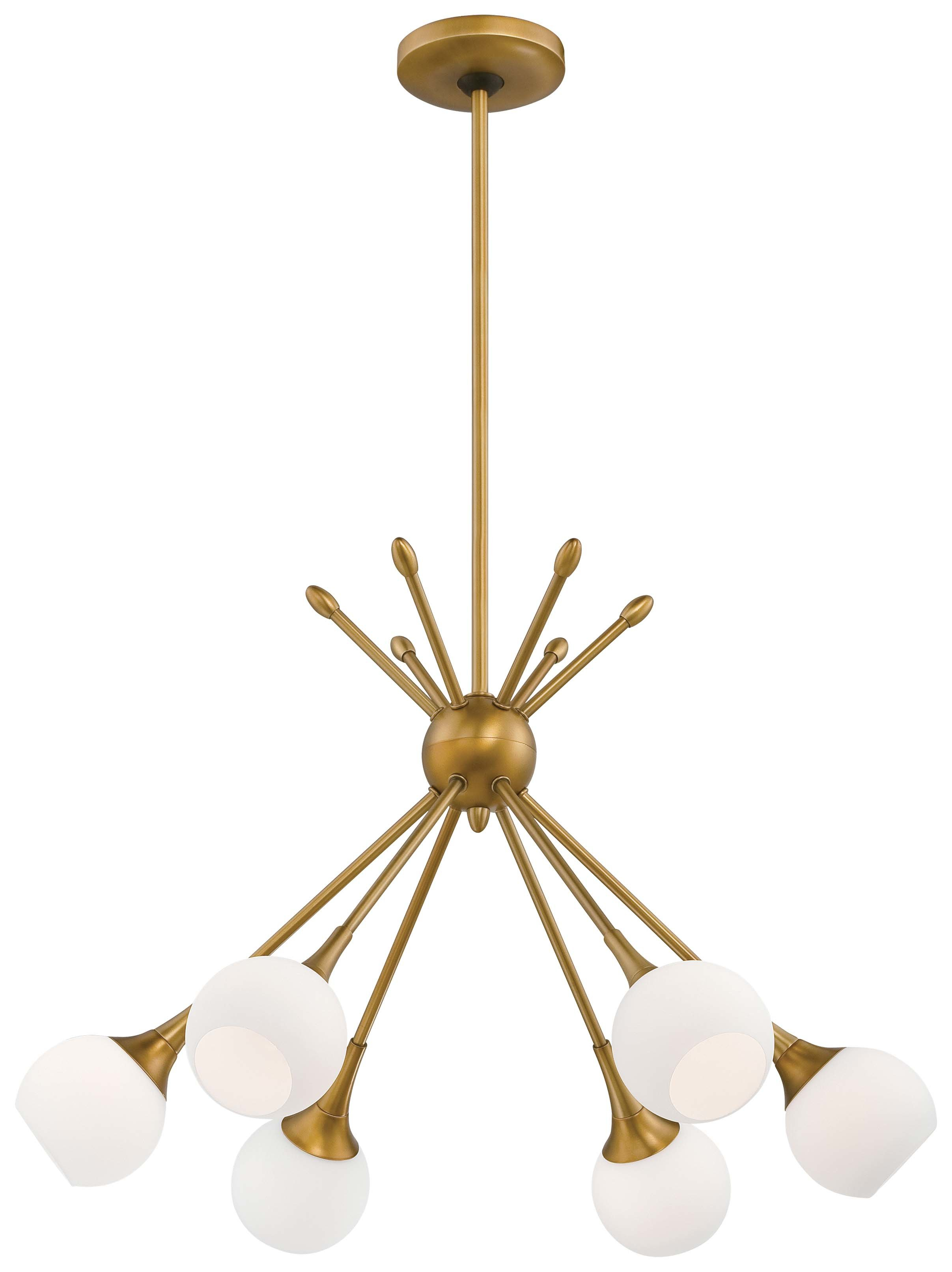 Silvia 6-Light Sputnik Chandelier pertaining to Asher 12-Light Sputnik Chandeliers (Image 29 of 30)