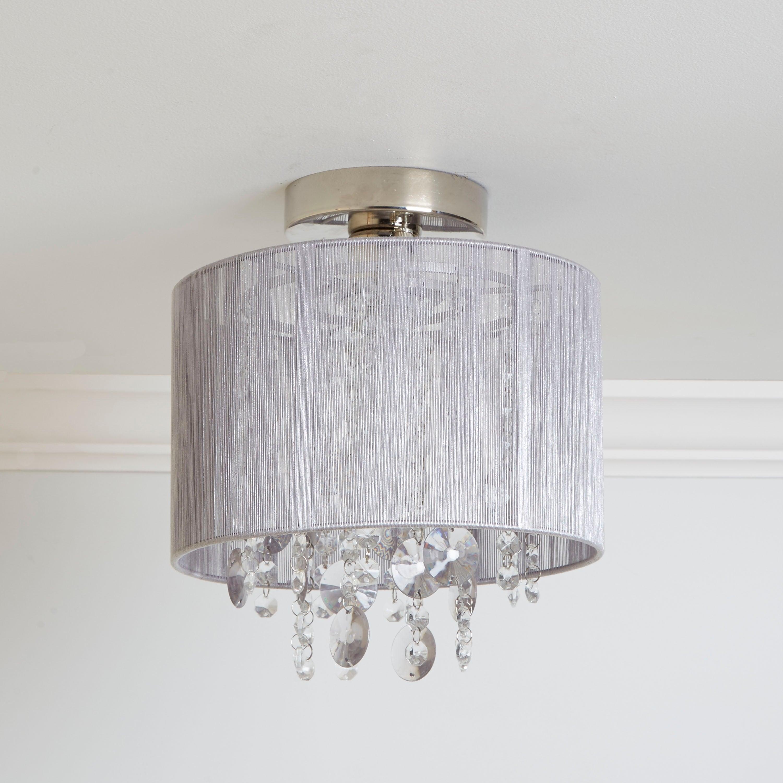 Silvia String Beaded Flush Mount Ceiling Light inside Alverez 4-Light Drum Chandeliers (Image 25 of 30)