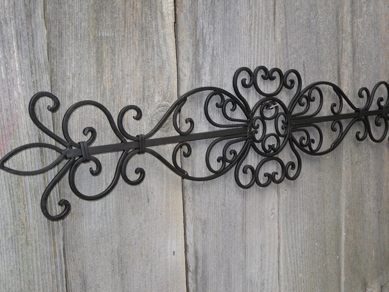 Simple Large Wrought Iron Wall Decor : Perfect Large Wrought for Ornamental Wood And Metal Scroll Wall Decor (Image 23 of 30)