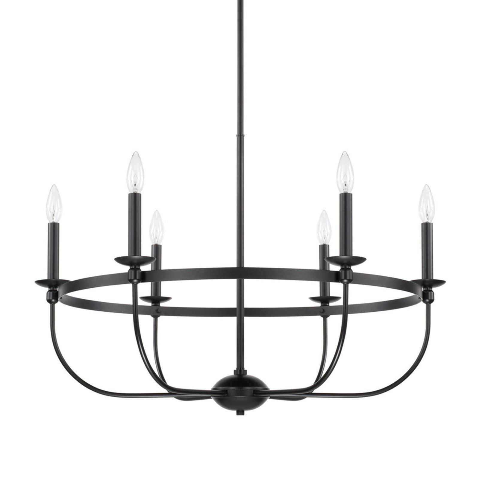 Simply Black Basket Chandelier – 6 Light In 2019 | Extreme With Hamza 6 Light Candle Style Chandeliers (View 7 of 30)