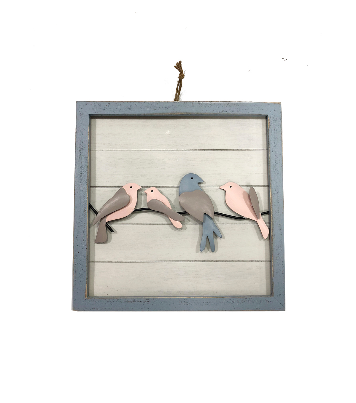 Simply Spring Birds On A Wire Framed Wall Decor For Birds On A Wire Wall Decor (View 18 of 30)