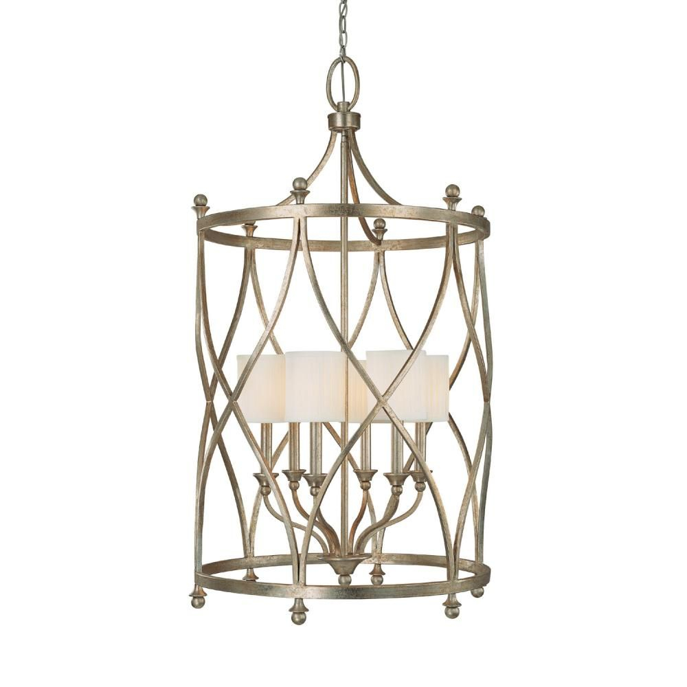 Six Light Gold Open Frame Foyer Hall Fixture : Sku V42 throughout Oriana 4-Light Single Geometric Chandeliers (Image 28 of 30)