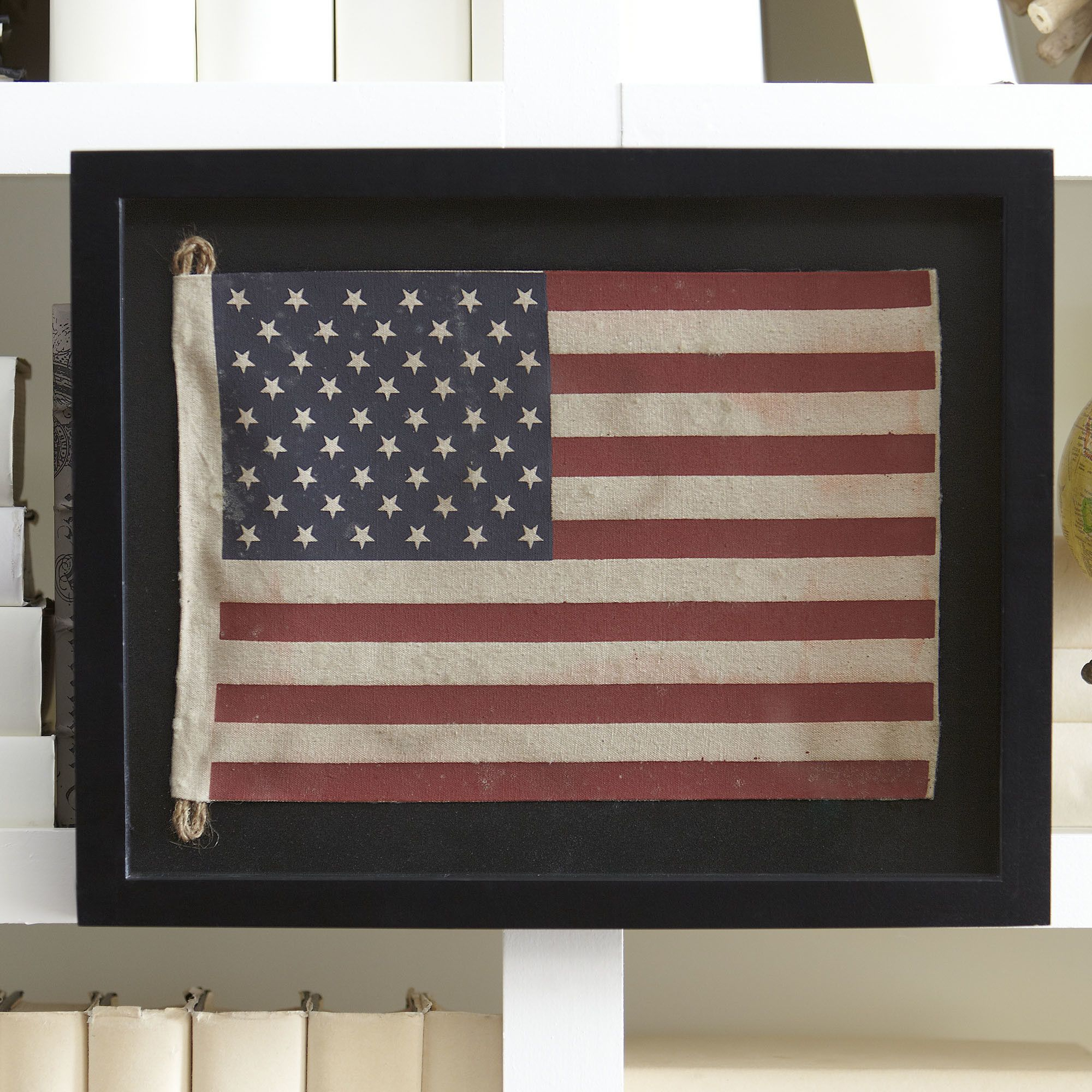 Small American Flag Framed Wall Art | Mounted In A Wood pertaining to American Pride 3D Wall Decor (Image 25 of 30)