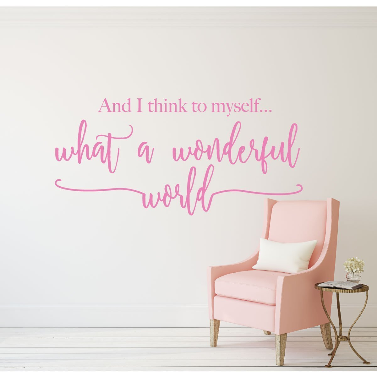 Song Lyrics What A Wonderful World Louis Armstrong Quote Wall Decals intended for Wonderful World Wall Decor (Image 13 of 30)