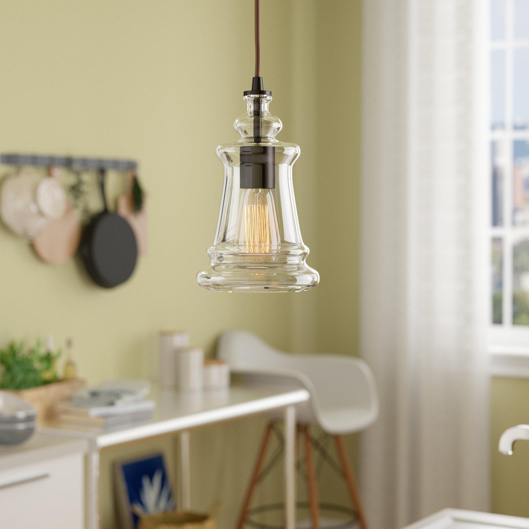 Sorensen 1-Light Single Bell Pendant with Akakios 1-Light Single Bell Pendants (Image 27 of 30)