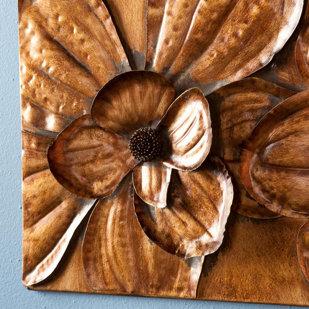 Southern Enterprises 10 In. X 10 In. Magnolia Wall 3-Piece pertaining to 3 Piece Magnolia Brown Panel Wall Decor Sets (Image 22 of 30)