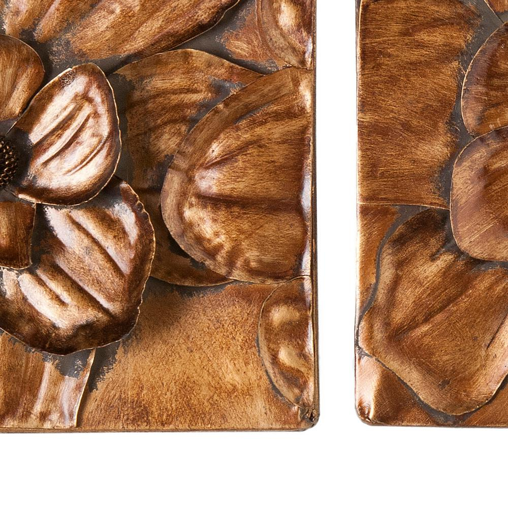 Southern Enterprises 10 In. X 10 In. Magnolia Wall 3-Piece throughout 3 Piece Magnolia Brown Panel Wall Decor Sets (Image 24 of 30)
