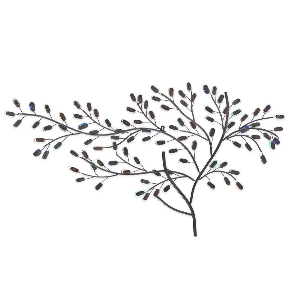 Southern Enterprises Herzer Metal/glass Tree Decorative Wall Intended For Windswept Tree Wall Decor (View 15 of 30)