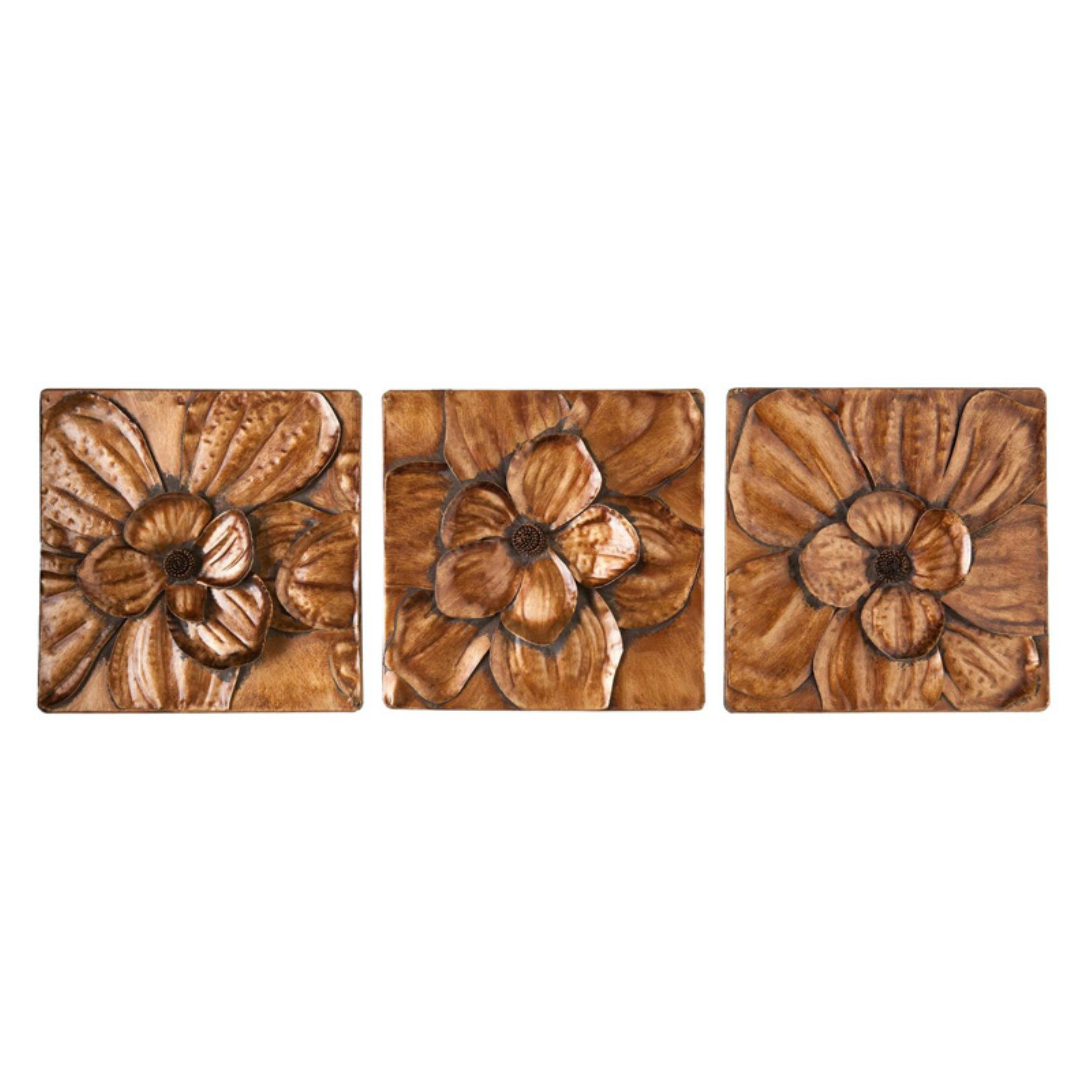 Southern Enterprises Magnolia 3-Piece Wall Panel Set intended for 3 Piece Magnolia Brown Panel Wall Decor Sets (Image 25 of 30)