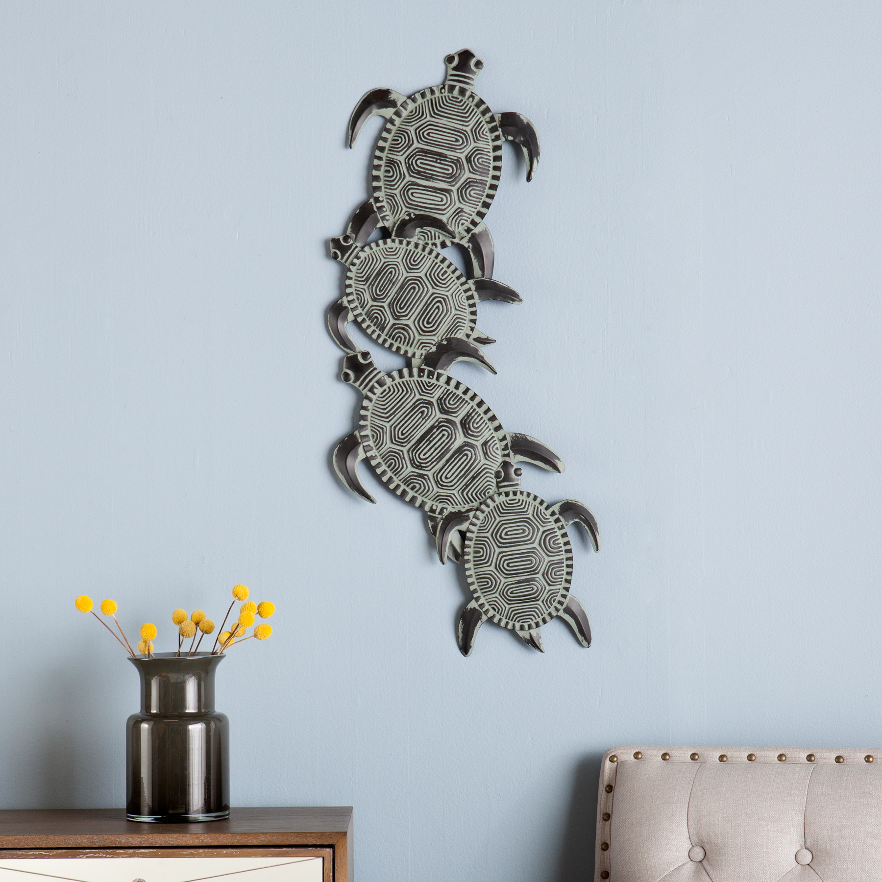 Southern Enterprises Metal Turtle Wall Art With Rhys Turtle Decor Wall Decor (View 5 of 30)
