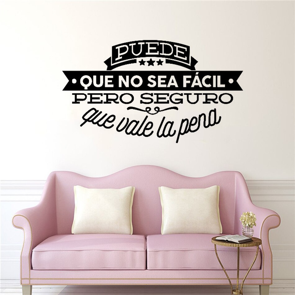 Spanish Decorative Vinyl Wall Stickers Famous Quote With Regard To Spanish Ornamental Wall Decor (View 5 of 30)
